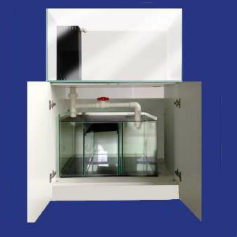aquarium wave station 270 mit schrank weiss lackierten und. Black Bedroom Furniture Sets. Home Design Ideas