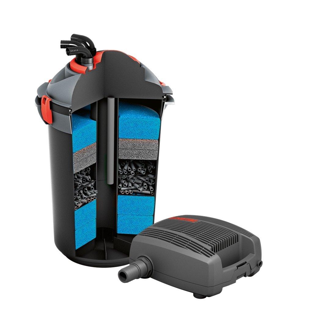 Eheim filtro stagno biotopo press 10000 con di pompa flow3500 for Filtro per stagno