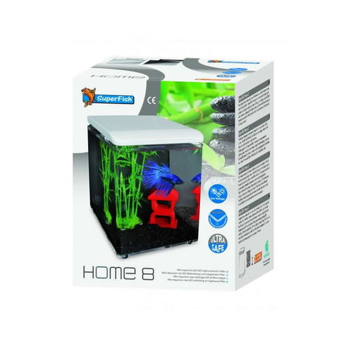 Aquarium Super Fish Cube Home 8 LED